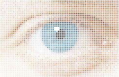 Human dots eye Stock Image