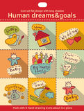 Human dreams and goals flat icon set color Stock Photography