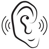 Human Ear Icon Royalty Free Stock Photo