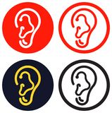 Human Ear Icon Stock Photo