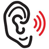 Human Ear Icon. Illustration as EPS 10 File Royalty Free Stock Images