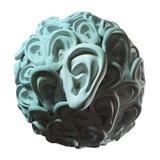 Human ears in ball shape Stock Photography