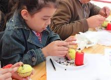 Human eggs painted handmade Stock Photos