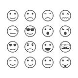 Human emotion icons Stock Photos