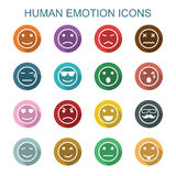 Human emotion long shadow icons Royalty Free Stock Photography