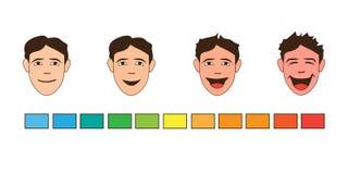 Human emotions. Happiness. Laughter. Joy. Cartoon. Human emotions. Happiness. Man Laughtering. Joy. Cartoon style stock illustration