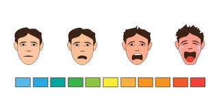 Human emotions. sad. Cry. Cartoon. Human emotions. sad. Man Crying. Cartoon style royalty free illustration
