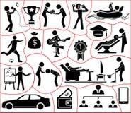 Human esteem needs icon set. Illustration on white background royalty free illustration