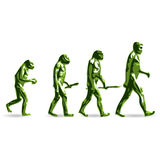 HUMAN EVOLUTION. Illustration of theory human evolution Royalty Free Stock Image