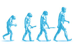 Human evolution. Illustration of theory human evolution stock illustration