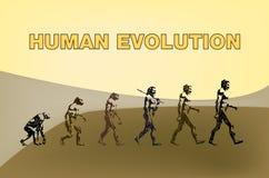 Human evolution Royalty Free Stock Photography