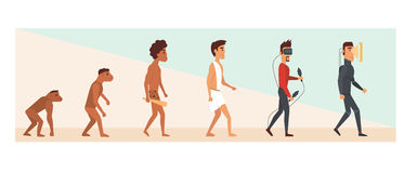 Human evolution and future. vector illustration Stock Image