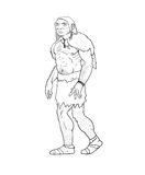 Human evolution illustration Royalty Free Stock Image
