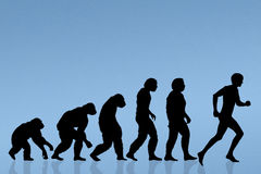 Human evolution running Stock Photography