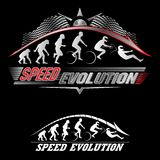 Human evolution of speed. Set of Human evolution of speed Stock Photography