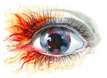 Human eye. Painting of beautiful human eye Royalty Free Stock Image
