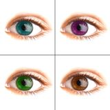 Human eye. Four differently colored eyes chelvecheskih royalty free stock images