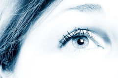 Human Eye. / beautiful, beauty, bloodshot royalty free stock photo