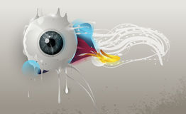 Human eye with abstract elements Royalty Free Stock Image