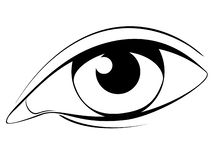 Human eye in black and white royalty free illustration