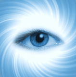 Human eye on blue background Royalty Free Stock Images