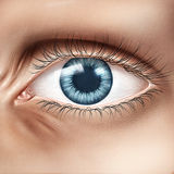Human eye closeup Stock Photography