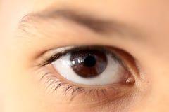 Human eye closeup Stock Photography