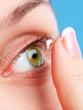 Human eye with corrective lens Royalty Free Stock Image