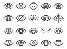 Human eye icon set stock illustration