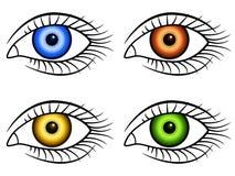 Human eye icons Stock Images