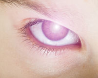 Human eye and light Stock Images