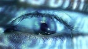 Human eye stock video