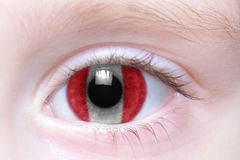 Human eye with national flag of peru Royalty Free Stock Photo