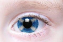 Human eye with national flag of scotland. Human`s eye with national flag of scotland royalty free stock images