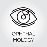 Human eye in outline style. Ophthalmology and healthcare concept Stock Images