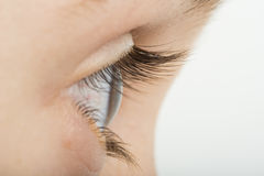 Human eye in profile Stock Images