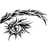Human Eye Sign. Vector Graphic Illustration in Black and White Color Royalty Free Stock Photography