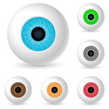 Human eyeballs. Set on white background Stock Photo