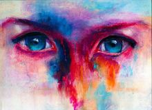 Free Human Eyes Closeup Hand Drawn Colorful Illustration Royalty Free Stock Photography - 168247877