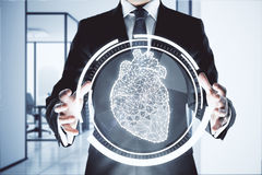 human för hjärta för graf för cardiologybegreppseartbeat Arkivbilder