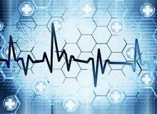human för hjärta för graf för cardiologybegreppseartbeat Arkivbild