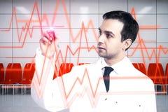 human för hjärta för graf för cardiologybegreppseartbeat Royaltyfri Bild