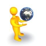 human för jord 3d Arkivbild