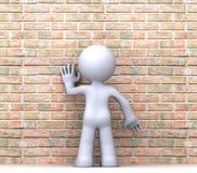 human för tecken 3d Royaltyfri Bild