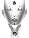 Human face. Face of a woman created in vector based software Stock Photography