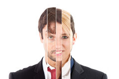 Human face collage Stock Image
