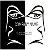 A human face for the company. Vector illustration Stock Photo