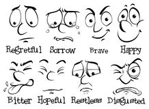 Human face with different emotion Royalty Free Stock Image