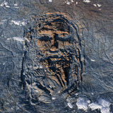 Human face on the Earth royalty free illustration