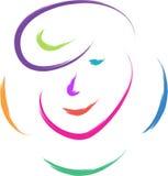 Human face logo Royalty Free Stock Images